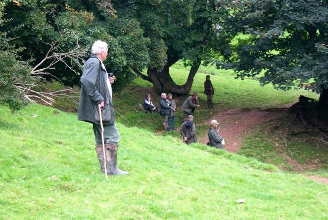 Shoot owner Tim Woodgate-Jones watching some good dog work